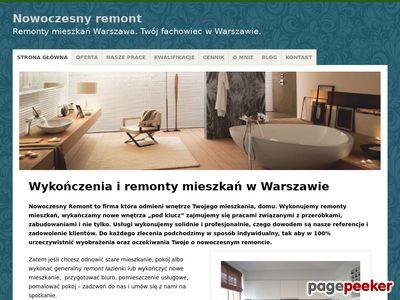 Nowoczesne kompleksowe A-Z remonty mieszkań Warszawa