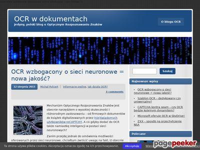 OCR w dokumentach | Jedyny, polski blog o Optycznym Rozpoznawaniu Znaków