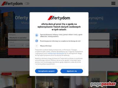 Oferty-dom.pl - strona z nieruchomościami