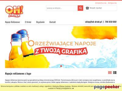 Oh-drink.pl - woda z logo