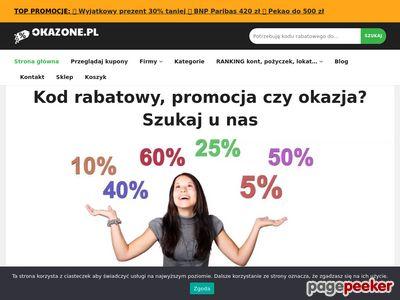 Oszczędzaj dzięki kodom rabatowym na - Okazone.pl