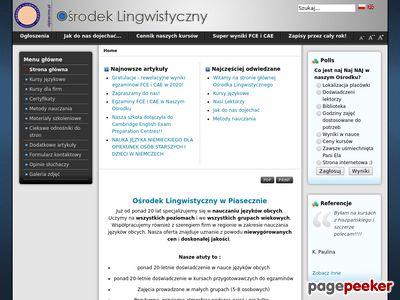Język angielski Piaseczno
