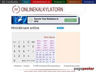 ONLINEKALKYLATORN - din miniräknare online - http://onlinekalkylatorn.se