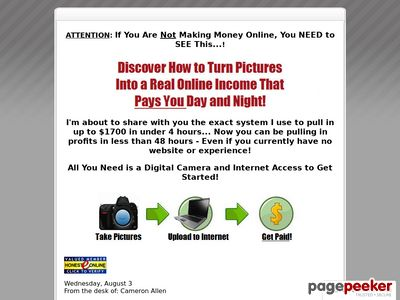 Paid for Pictures - Money For Pictures - Make Money Digital Camera