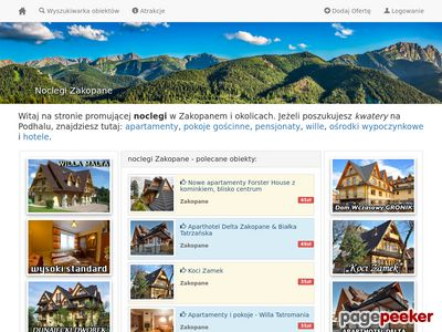 Pensjonaty w Zakopanem