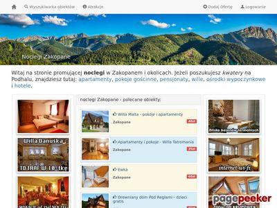 Pokoje i pensjonaty w Zakopanem