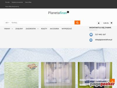 Planetafiran.pl - Sklep internetowy z firanami