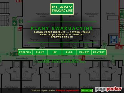 Plany ewakuacyjne budynku. Plany graficzne obiektu. ONLINE.