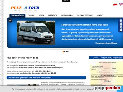 Wynajem autokarów - Firma Plus Tour Łódź