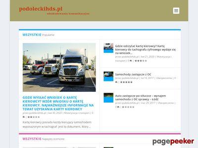 Transport HDS Małopolska - Paweł Podolecki