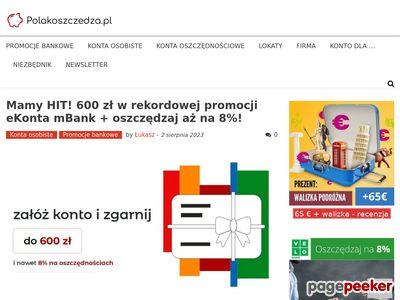 PolakOszczedza.pl Ranking lokat bez zakładania konta