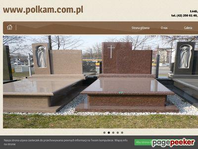 Nagrobki w mieście Łódź dzięki zakładowi Polkam