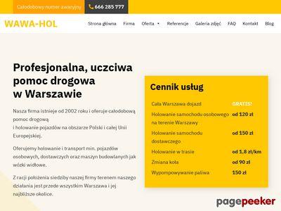 Holowanie Warszawa - Wawa-Hol