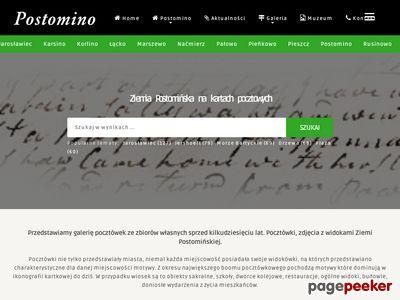 Ziemia Postomińska na starych kartach pocztowych