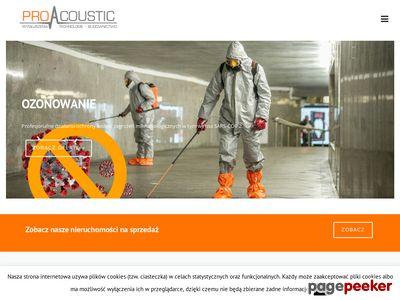 ProAcoustic - Wygłuszenia Technologie Budownictwo
