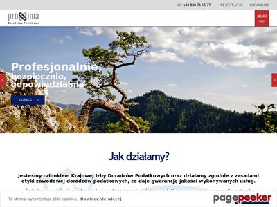 Biuro rachunkowe Nowy Sącz - http://proxima-doradztwopodatkowe.pl
