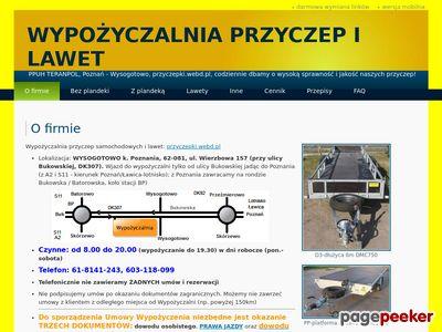 Wypożyczalnia przyczep samochodowych i lawet - Poznań Wysogotowo