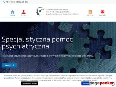 ANETA GIELNIK-PIOTROWSKA dobry psychiatra Poznań