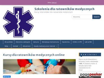 Szkolenia internetowe dla ratowników medycznych