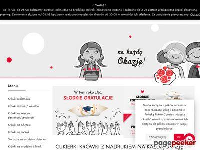 Cukierki z logo firmy - pyszne-krowki.pl