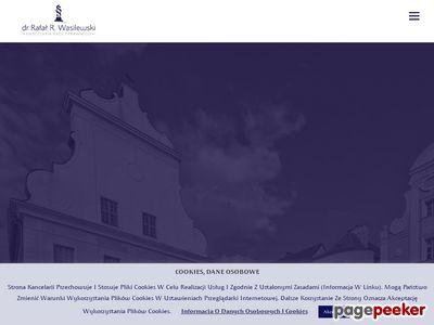 Dr Rafał R. Wasilewski, Kancelaria Prawa Gospodarczego w Szczecinie
