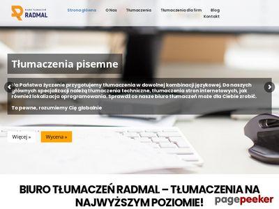 Radmal biuro tłumaczeń pisemnych