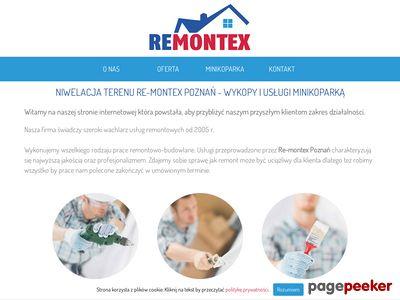 Re-Montex - pomoc w wykopach i usługach minikoparką