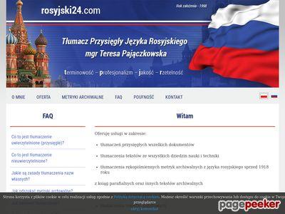 Tłumacz Przysięgły Języka Rosyjskiego mgr Teresa Pajączkowska - Toruń - tłumaczenia Rosyjski