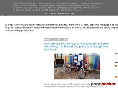 Rowery trójkołowe dla osób niepełosprawnych
