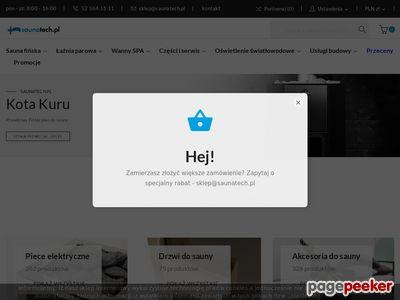 Saunatech.pl - sklep z wyposażeniem do łaźni parowej