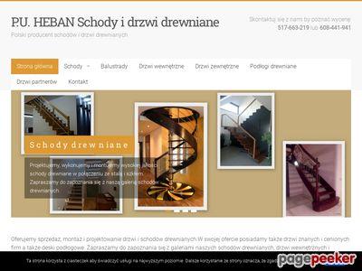 P.U.Heban - schody drewniane