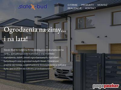 SIATEXBUD - siatki, bramy, panele ogrodzeniowe - Zielona Góra