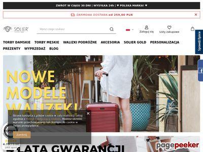 Solier - skórzane torby męskie, teczki, walizki, portfele, paski