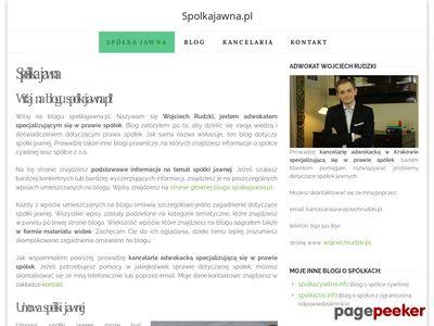 Blog o spółce jawnej