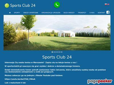 Sport Club 24 - efektywna nauka tenisa