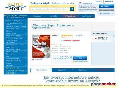 Allegrowy Super Sprzedawca, Sprzedaż na Allegro bez tajemnic - Wojciech Cywiński