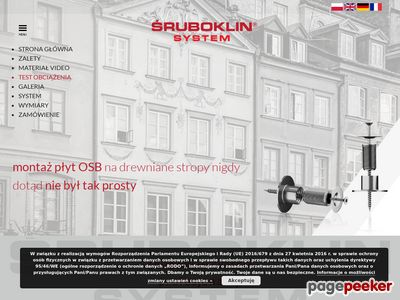 ŚRUBOKLIN System - montaż płyt OSB