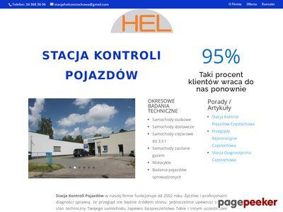Stacja kontroli pojazdów Częstochowa Hel