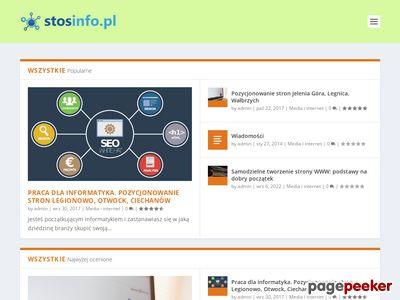 Porządny katalog stron internetowych Stosinfo