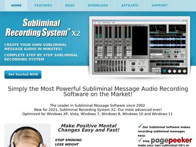 Subliminal Message Software – Make your own subliminal audio cd's fast and easy