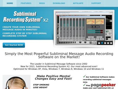 Subliminal Message Software - Make your own subliminal audio cd's fast and easy
