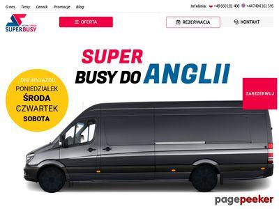 Busy do Anglii D2D - SuperBusy.pl - przewóz osób Polska Anglia