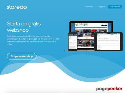 Skärmdump av sv.storedo.com