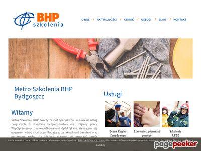 Metro - Ocena ryzyka zawodowego, Szkolenia BHP Bydgoszcz
