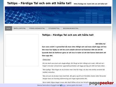 Taltips - Färdiga Tal och om att hålla tal - http://taltips.n.nu