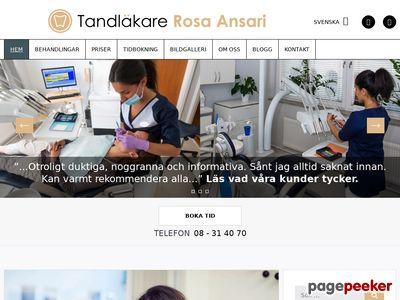 Skärmdump av tandlakareansari.se