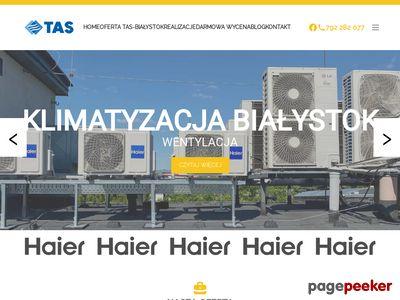 Serwis i montaż klimatyzacji i wentylacji - Tas Bialystok
