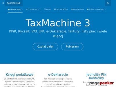 TaxMachine - KPiR, Ryczałt, aktywne formularze