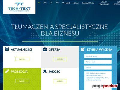 Biuro tłumaczeń Warszawa - tech-text.com