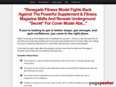 Jamin Thompson's Six Pack Abs Program – The 6 Pack SecretThe 6 Pack Secret